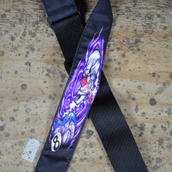 Clown & Eightball Tattoo Rag Guitar Strap