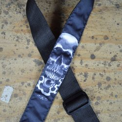 Skull & Eyeball Tattoo Rag Guitar Strap