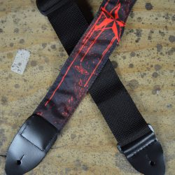 Star Red Tattoo Rag Guitar Strap