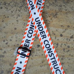 Under Construction Printed Webbing Guitar Strap