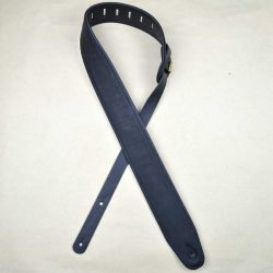 2.5″ Padded Upholstery Leather Guitar Strap Black & Black