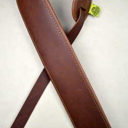 3.0″ Padded Upholstery Leather Guitar Strap Brown & Tan