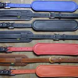 Vintage Padded Leather Guitar Straps