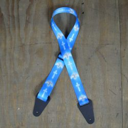 Blue Dove Printed 50mm Webbing Guitar Strap