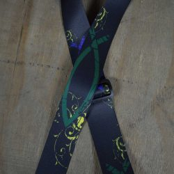 Green Fish Printed 50mm Webbing Guitar Strap