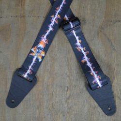 Lightning & Skull Printed 50mm Webbing Guitar Strap