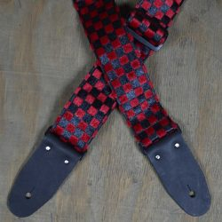 Black & Red Checker Guitar Strap