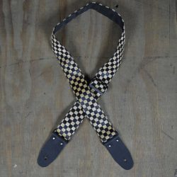 Tan & Black Checker Guitar Strap
