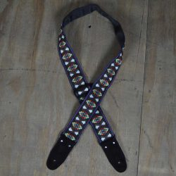 Black Jacquard 50mm Webbing Guitar Strap