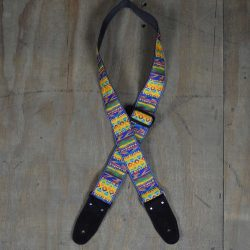 Yellow Jacquard 50mm Webbing Guitar Strap