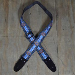 Blue Jacquard 50mm Webbing Guitar Strap