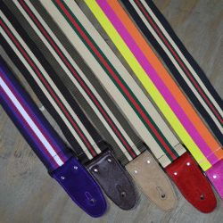 Striped Webbing Guitar Straps