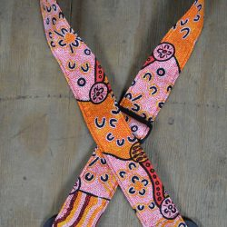 Aboriginal Art Guitar Strap – Orange Dot