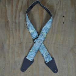 Aboriginal Art Guitar Strap – Aqua