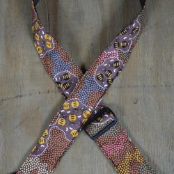 Aboriginal Art Guitar Strap – Honey Ants