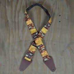 Aboriginal Art Guitar Strap – Yellow Bush