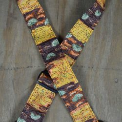 Aboriginal Art Guitar Strap – Yellow Bush