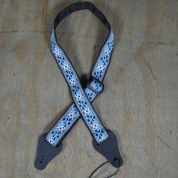 Blue Aztec Jacquard Ukulele Strap