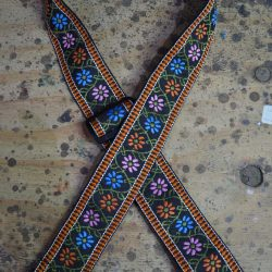 Flowers Jacquard 50mm Webbing Guitar Strap