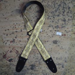 Gold Diamonds Jacquard 50mm Webbing Guitar Strap