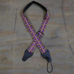 Multi Coloured Diamonds Jacquard Ukulele Strap