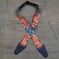 Aboriginal Art Guitar Strap – Kangaroo Ground