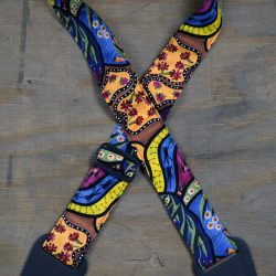 Aboriginal Art Guitar Strap – Native Fauna