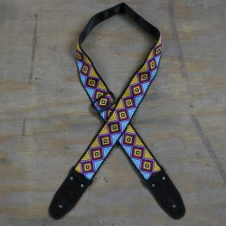 Multi Coloured Diamonds Jacquard 50mm Webbing Guitar Strap
