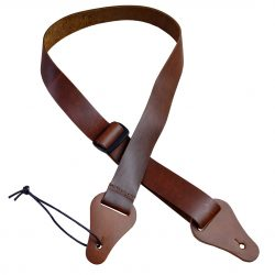 Brown 35mm Slide Adjustable Leather Ukulele Strap