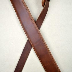 2.0″ Padded Upholstery Leather Guitar Strap Brown & Tan