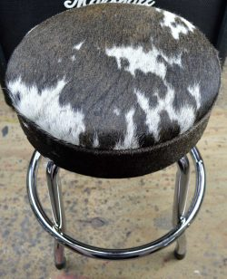 Genuine Hair On Cowhide Leather Short Guitar Stool