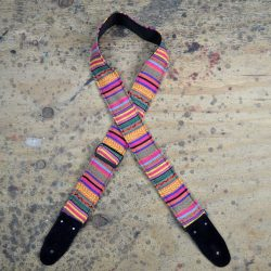 Yellow Rasta Rag Guitar Strap