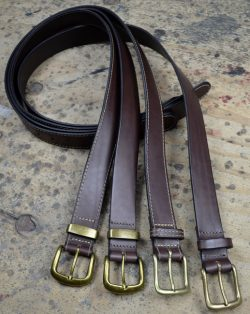 Handcrafted Brown Leather Belt