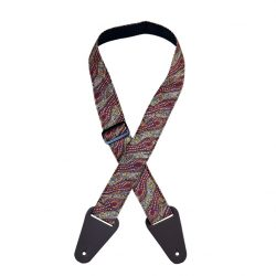 Aboriginal Art Guitar Strap – Women Collecting Water Brown