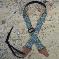 Aboriginal Art Rag Ukulele Strap – Women Collecting Water Green