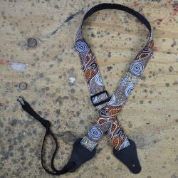 Aboriginal Art Rag Ukulele Strap – Bush Camp