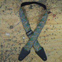 Aboriginal Art Guitar Strap – Women Collecting Water Green