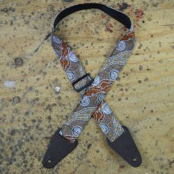 Aboriginal Art Guitar Strap – Bush Camp