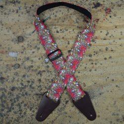 Aboriginal Art Guitar Strap – Red Gum Flower