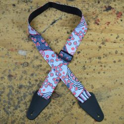 Aboriginal Art Guitar Strap – Blue Dot