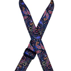 Multi-Coloured Paisley Rag Ukulele Strap