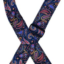 Multi-Coloured Paisley Rag Guitar Strap