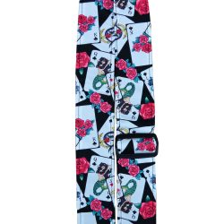 Rose & Cards Rag Guitar Strap