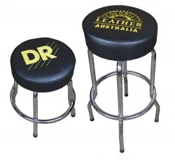 Genuine Leather Upholstered Small Guitar Stool