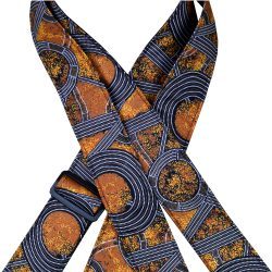 Aboriginal Art Guitar Strap – Bush Plum Gold