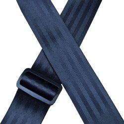 Black Herringbone seat belt webbing 50mm guitar strap.